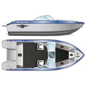 Продаем лодку (катер)  Волжанка 51 Двухконсольная